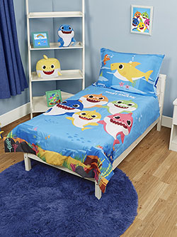 4-Piece Toddler Bedding Set by Pinkfong Baby Shark in Multi, Infants