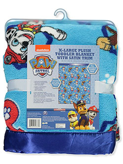 XL Plush Toddler Blanket with Satin Trim by Paw Patrol in Multi, Infants
