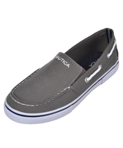 "Nautica Boys' ""Doubloon"" Slip-On Deck Sneakers (Youth Sizes 13 – 6) - CookiesKids.com"