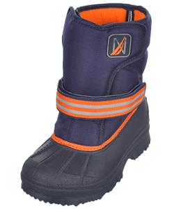 "Girls' ""Port"" Boots by Nautica in Navy/orange"