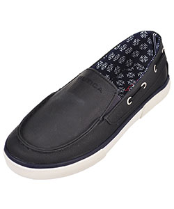 "Nautica Boys' ""Doubloon"" Slip-On Boat Shoes (Youth Sizes 13 – 5) - CookiesKids.com"