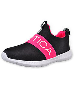 Girls' Mattoon Sneakers by Nautica in Black/pink
