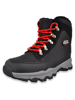 Boys' ALX Hiker Boots by Nautica in Black/red