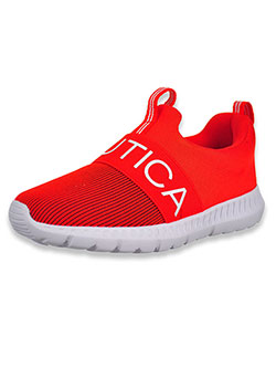 Boys' Ribbed Mattoon Sneakers by Nautica in Red