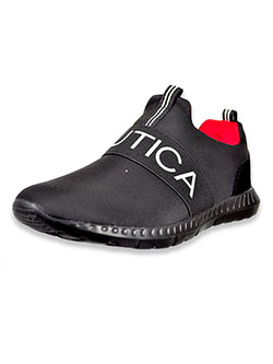 Boys' Canvey Toddler Sneakers by Nautica in Black/red, Shoes