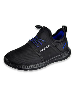 Girls' Slip-On Running Sneakers by Nautica in Black, Shoes