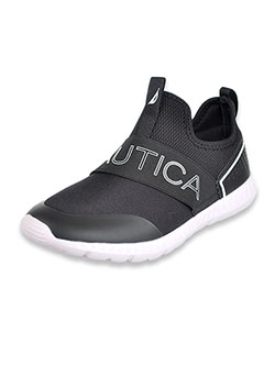 Boys' Single Strap Slip-On Sneakers by Nautica in Black
