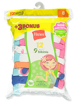 Girls' 12-Pack Bikini Panties Underwear by Hanes in Multi