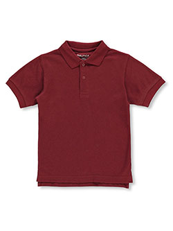 Little Boys' S/S Pique Polo by Nautica in Burgundy