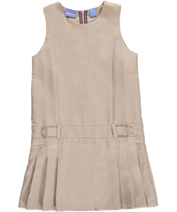 "Nautica Little Girls' ""Pleat & Tab"" Jumper (Sizes 4 – 6X) - CookiesKids.com"