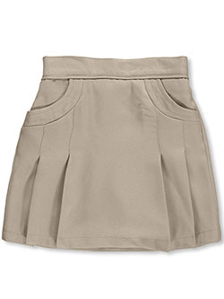 "Big Girls' ""Stitched Pocket"" Scooter Skirt by Nautica in khaki and navy"