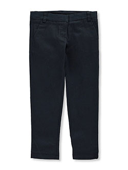 Little Girls' Stretch Skinny Uniform Pants by Nautica in Navy