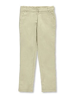 Big Girls' Stretch Skinny Uniform Pants by Nautica in khaki and navy, School Uniforms