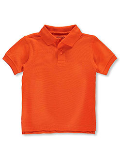 Toddler School Uniform Pique Polo by Nautica in orange and white