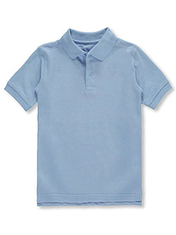 Big Boys' School Uniform Pique Polo by Nautica in blue, orange, red and royal blue