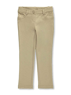 "Little Girls' ""Skinny Stretch"" Jeggings by Nautica in khaki and navy - $36.00"