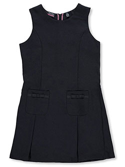 "Big Girls' ""Grosgrain Bow Pockets"" Jumper by Nautica in Navy - Jumpers"