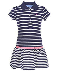 "Nautica Little Girls' Toddler ""Boardwalk"" Pique Polo Dress (Sizes 2T – 4T) - CookiesKids.com"