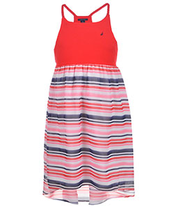 "Nautica Little Girls' Toddler ""Hi-Low Chiffon"" Dress (Sizes 2T – 4T) - CookiesKids.com"