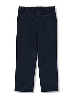 Big Boys' Plus Size Flat Front Pants by Nautica in Navy