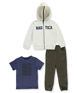 Nautica Little Boys' 3-Piece Outfit (Sizes 4 – 7X) - CookiesKids.com