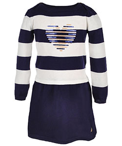 Nautica Little Girls' Toddler Sweater Dress (Sizes 2T – 4T) - CookiesKids.com