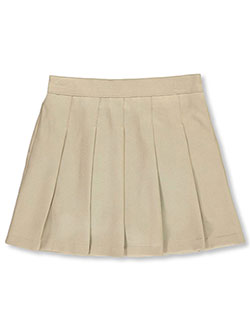 Girls' School Uniform Scooter Skirt by Nautica in khaki and navy