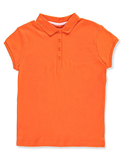 Big Girls' Knit Polo by Nautica in Orange, School Uniforms