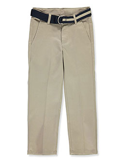 Boys' Belted Twill Pants by Nautica in khaki and navy