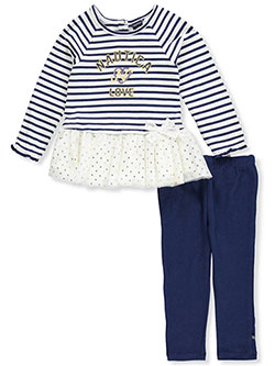42cb8c010 Baby Girls' 2-Piece Leggings Set Outfit by Nautica in Blue/pink from ...
