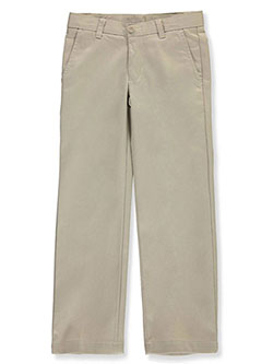 Boys' School Uniform Flat Front Pants by Nautica in khaki and navy