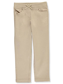 School Uniform Knit Waist Skinny Pants by Nautica in Khaki
