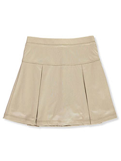 School Uniform Performance Scooter Skirt by Nautica in khaki and navy