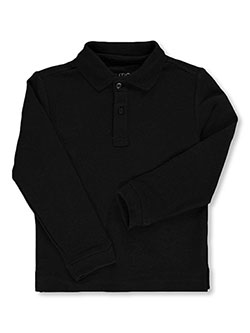 Boys' School Uniform L/S Pique Polo by Nautica in black, blue, white and more