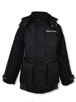 Boys' Ripstop Insulated Jacket by Nautica in Black