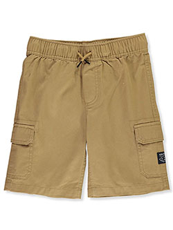 Boys' Pull-On Cargo Shorts by Nautica in dark khaki, ink and white