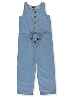 Girls' Chambray Jumper by Nautica in Denim
