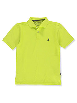 Boys' S/S Polo Shirt by Nautica in green, lavender and yellow