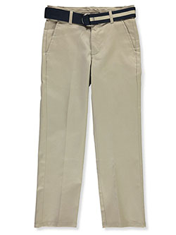 Boys' Belted Twill Pants by Nautica in Khaki
