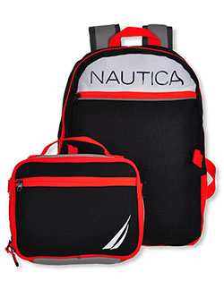 Backpack & Lunchbox Set by Nautica in black/gray and gray/black - $19.99