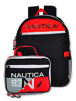 Backpack & Lunchbox Set by Nautica in black/gray and medium gray - $19.99