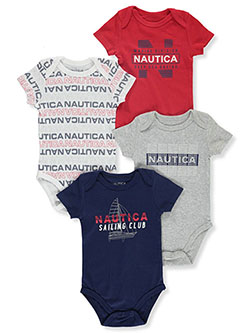 Baby Boys' Sailing Club 4-Pack Bodysuits by Nautica in Multi