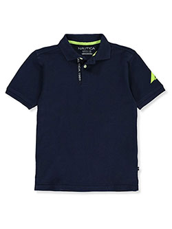 Boys' Tape Logo Polo Shirt by Nautica in navy and white, Sizes 8-20