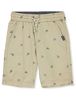 Boys' Sail & Anchor Pull-On Shorts by Nautica in Khaki