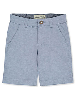 Boys' Oxford Shorts by Nautica in cobalt, green and orange