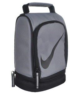 Paneled Upright Insulated Lunchbox by Nike in Gray/black