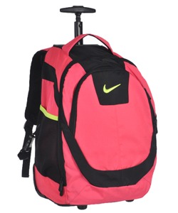 Wheeled Backpack by Nike in Hyper pink