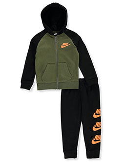 Boys' 2-Piece Sweatsuit Pants Set by Nike in Black multi