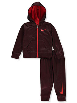 Boys' Dri-Fit 2-Piece Sweatsuit Pants Set by Nike in Red