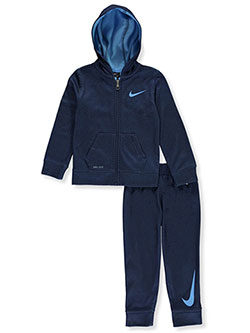 Boys' Dri-Fit 2-Piece Sweatsuit Pants Set by Nike in Navy
